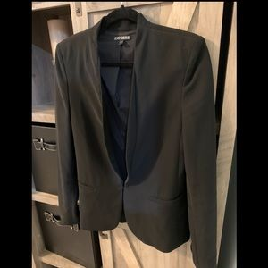 Express Suit Jacket Blazer, Black